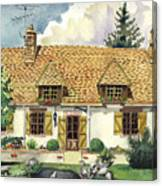 Countryside House In France Canvas Print