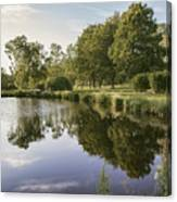 Countryside Park Pond Canvas Print