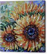 Countryside Sunflowers Canvas Print