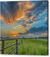 Countryside Sunset Canvas Print