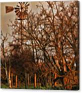 Countryside Windmill Canvas Print