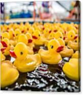 County Fair Rubber Duckies Canvas Print