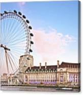 County Hall And London Eye Canvas Print