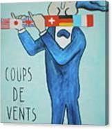 Coup De Vents Canvas Print