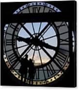 Couple And Clock D'orsay Museum Paris Canvas Print