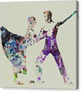Couple Dancing Ballet Canvas Print