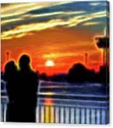 Romantic Sunrise. Canvas Print