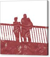 Couple On Bridge Canvas Print