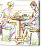 Couple Reading Canvas Print