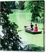 Couple Rowing Canvas Print