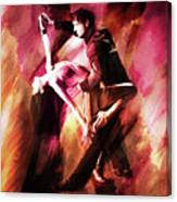 Couple Tango Art Canvas Print