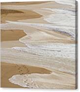 Couple Walking Makena Beach Canvas Print