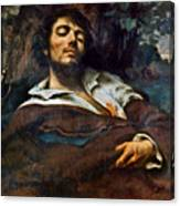Courbet: Self-portrait Canvas Print