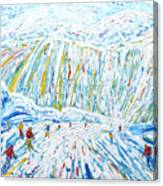Courchevel Creux Piste Canvas Print