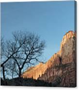 Court Of The Patriarchs Sunrise Zion National Park Canvas Print