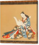 Courtesan Writing A Letter Canvas Print
