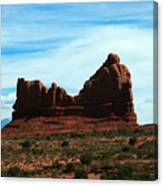 Courthouse Rock In Arches National Park Canvas Print