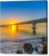 Courtney Campbell Bridge Sunrise - Tampa, Florida Canvas Print