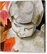 Courtyard Cherub Canvas Print