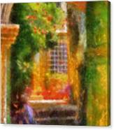 Courtyard In Cavtat Canvas Print