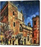 Courtyard, Mellieha, Malta Canvas Print