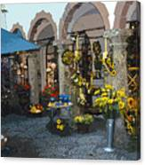 Courtyard Shop Canvas Print