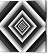 Covariance  6 Modern Geometric Black White Canvas Print