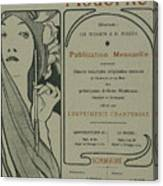 Cover Page From Lestampe Moderne Canvas Print