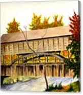 Covered Bridge - Mill Creek Park Canvas Print
