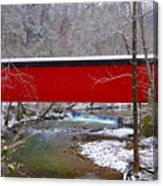 Covered Bridge Along The Wissahickon Creek Canvas Print