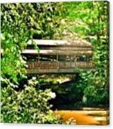 Covered Bridge At Lanterman's Mill Canvas Print