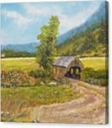 Covered Bridge At Little Creek Canvas Print
