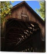 Covered Bridge In Woodstock Canvas Print