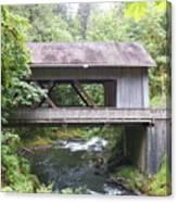 Covered Bridge Of Cedar Creek Canvas Print