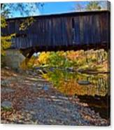 Covered Bridge Over The Cold River Canvas Print