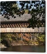 Covered Bridge Over The Contoocook River Canvas Print