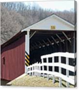 Covered Bridge Pa Canvas Print