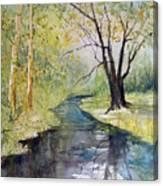 Covered Bridge Park Canvas Print