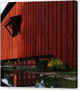 Covered Bridge Reflections Canvas Print