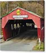 Covered Bridge Vermont Canvas Print