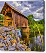 Covered Bridge, Vt Canvas Print