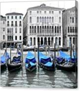 Covered Gondolas In Blue Canvas Print