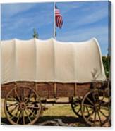 Covered Wagon At Fort Bluff Canvas Print