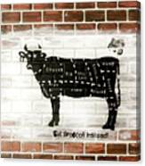 Cow Cuts Canvas Print