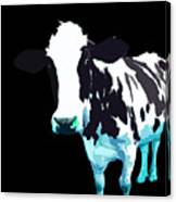 Cow In A Black World Canvas Print