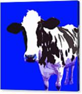 Cow In A Blue World Canvas Print