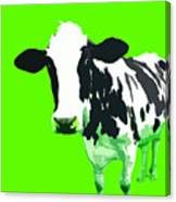 Cow In A Green World Canvas Print