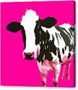 Cow In A Pink World Canvas Print