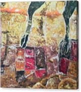 Cow Legs On Carpets Canvas Print