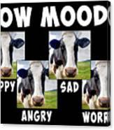 Cow Moods Canvas Print
